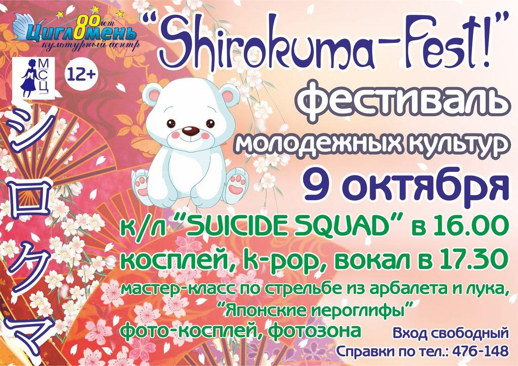 """Фестиваль молодежных культур """"Shirokuma-Fest!"""""""